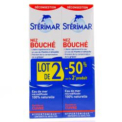 STERIMAR Hypertonique nez bouché cu flacon 100 ml lot de 2 flacons 100ml