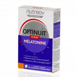 NUTREOV Optinuit flash mélatonine 30 comprimés.