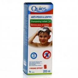 QUIES Shampooing anti-poux et lentes tube 200ml