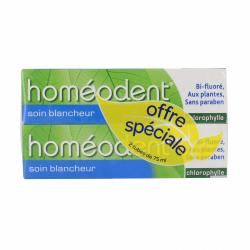 HOMEODENT Soin blancheur  lot de 2 x 75ml