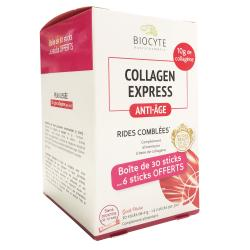 BIOCYTE Pack collagène  Anti-âge express 30 sticks 6g