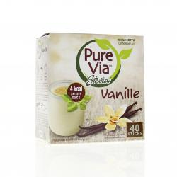 EFFICARE Pure via stevia vanille boîte de 40 sticks