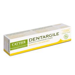 CATTIER Dentargile citron dentifrice gencives renforcées bio tube 75g