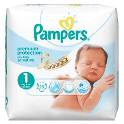 PAMPERS Couches new baby taille 1 (2 à 5 kg) x 23
