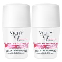 VICHY Déodorant déo beauté anti-transpirant 48h lot de 2 roll'ons x 50ml