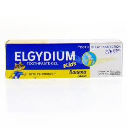 ELGYDIUM Dentifrice kids protection caries arôme banane tube 50ml