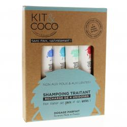 KIT & COCO Recharge shampooing traitant 4 x 25ml