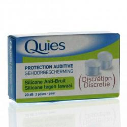 QUIES SILICONE ANTI BRUIT 6 BOUCHONS