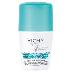 VICHY Déodorant traitement anti-transpirant 48h anti-traces blanches & jaunes roll'on 50ml