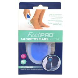 FEETPAD Talonnettes plates silicone 1 paire taille 3 - pointure 43 - 46