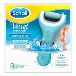 SCHOLL Velvet Smooth Wet & Dry râpe rechargeable