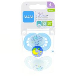 MAM Duo sucettes +6 mois anatomiques nuit silicone REF 23