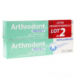ARTHRODONT Protect gel dentifrice fluoré 2 tubes x 75ml