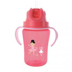 DODIE Tasse paille rose 350ml 18m+