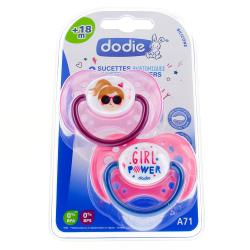 DODIE Sucettes anatomiques silicone x 2 +18 mois REF A71