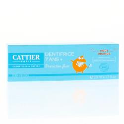 CATTIER Dentifrice 7 ans + goût orange tube 50ml