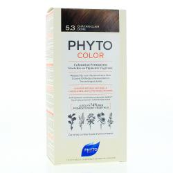 PHYTO Color n°5.3 CHATAIN CLAIR DORE coloration permanente enrichie en pigments végétaux