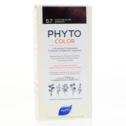 PHYTO Color n°5.7 CHATAIN CLAIR MARRON coloration permanente enrichie en pigments végétaux