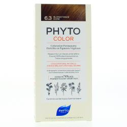 PHYTO Color n°6.3 BLOND FONCE DORE coloration permanente enrichie en pigments végétaux