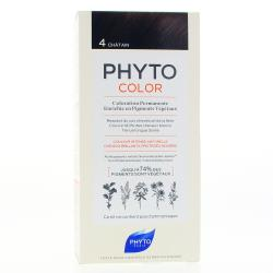 PHYTO Color n°4 CHATAIN coloration permanente enrichie en pigments végétaux