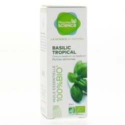 PHARMASCIENCE Huile essentielle de basilic Tropical bio flacon 10 ml