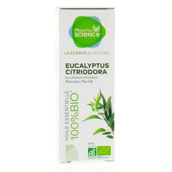 PHARMASCIENCE Huile essentielle d'Eucalyptus citriodora bio flacon 10 ml