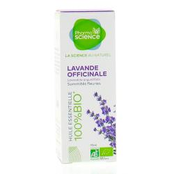 PHARMASCIENCE Huile essentielle de Lavande officinale bio flacon 10 ml