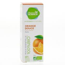 PHARMASCIECE Huile essentielle d'Orange douce  bio flacon 10 ml