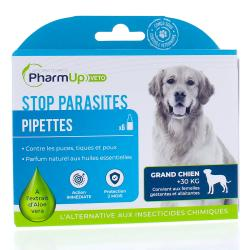PHARMUP VETO Stop parasites Grands chiens 6 pipettes