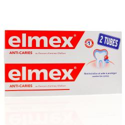 ELMEX Dentifrice protection caries lot de 2 tubes de 125ml