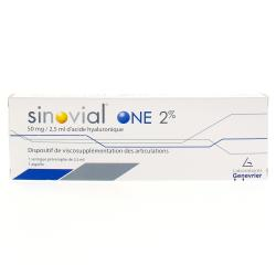 SINOVIAL ONE 2% 50mg / 2.5 ml d'acide hyaluronique